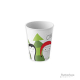Penguin and Santa Claus Personalized Kids Cup 6oz tumbler