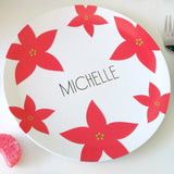 Red Poinsettia Dinnerware for Kids