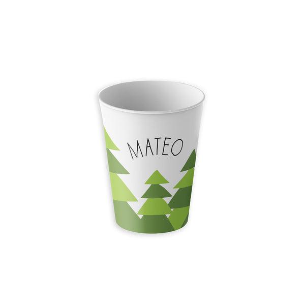 Holiday Christmas Trees Tumbler Cup Personalized with Kids Name