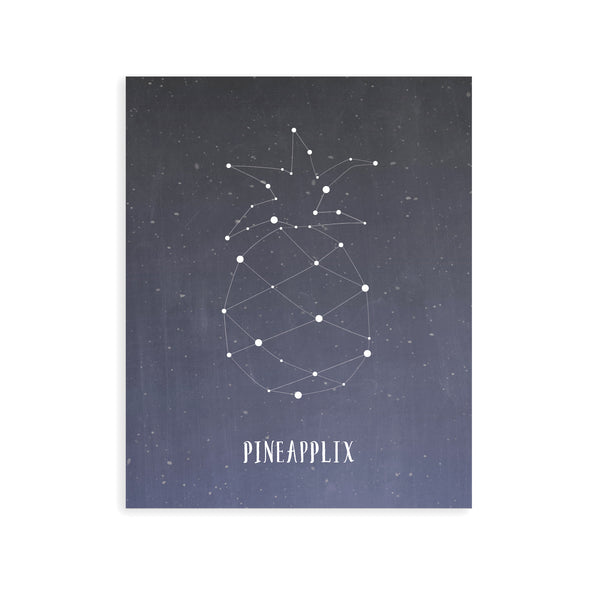 Imaginative Kids Room Wall Art Tropical Pineapple Constellation Night Sky