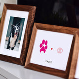 paw and nose print art in frame