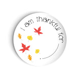 White fall plate kids thanksgiving table dinner setting