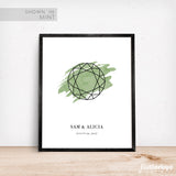 Round Gemstone Wedding Sign Green Wedding Decor Idea