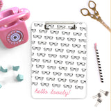 Clipboard black rimmed glasses with pink nerd gift teacher appreciation idea