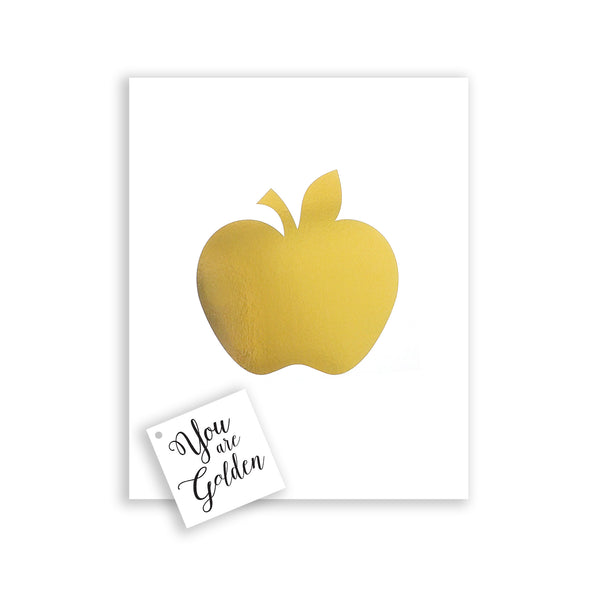gold foil apple print apple of my eye wall art teacher gift from class