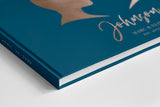 hardcover traditional wedding guest book sign in