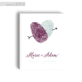 Traditional Wedding Guest Book Hard Cover Purple and Blue Wedding Theme