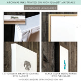 canvas and framed materials upgrade for custome pet print artwork
