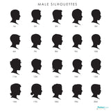 Classic Men Silhouettes Male Cameos