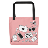 Mom stuff tote bag in pink mom gift