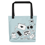 The Mom Bag blue mom stuff tote bag