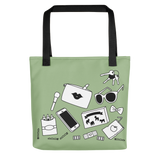 Mom Tote Bag Green Mom bag for mom stuff