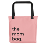 Funny tote bag for moms pink mom bag gift