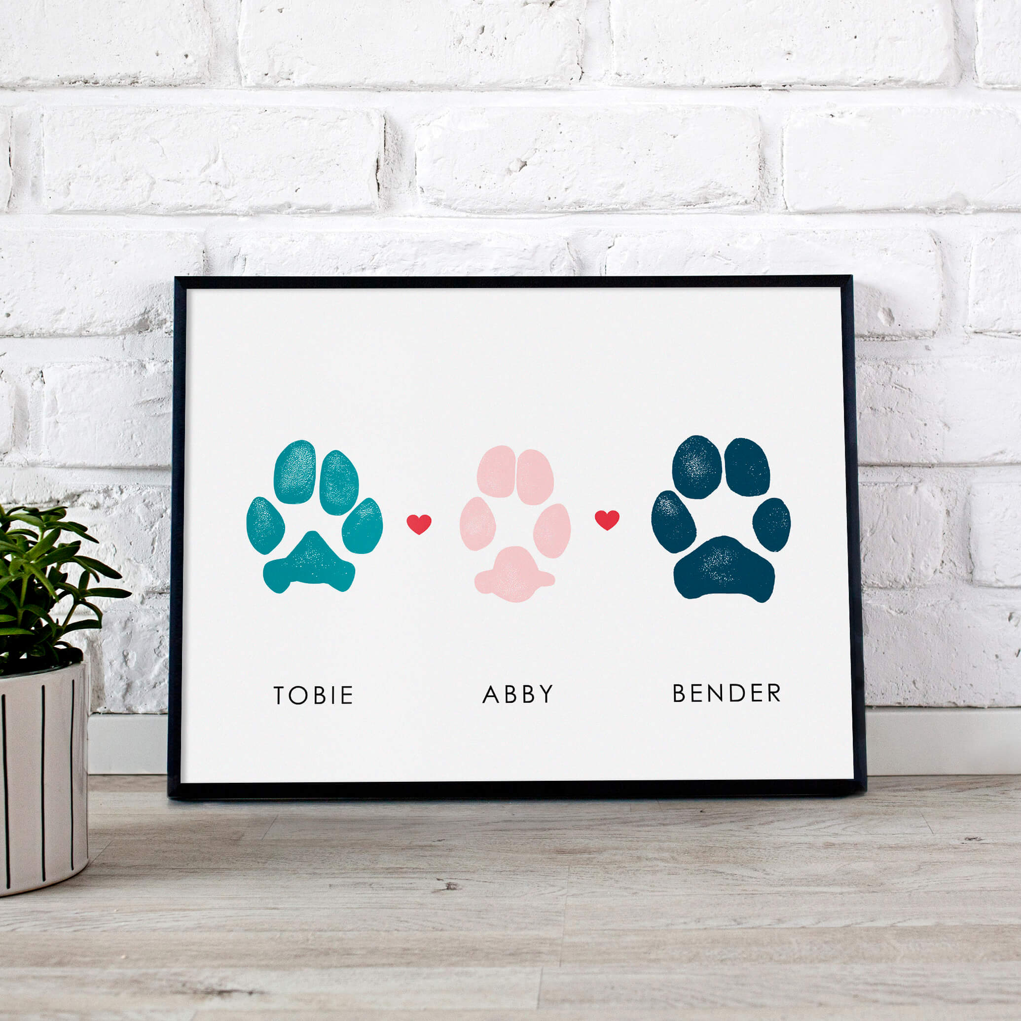 Wooden Paw Dog Cutout Dog Lover Gift Paw print Wood Dog Paws Shape Pet Sign