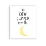 Nursery Room Decor Nursery Rhymes The Cow Jumped Over The Moon Print
