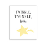 Nursery Art Twinkle Twinkle Little Star Print Yellow Room Decor Baby Boy or Girl Neutral Nursery