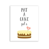 Neutral Nursery Decoration Pat A Cake Nursery Rhyme Collection
