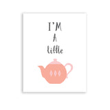pink baby room nursery art i'm a little teapot girl nursery rhyme kids song print
