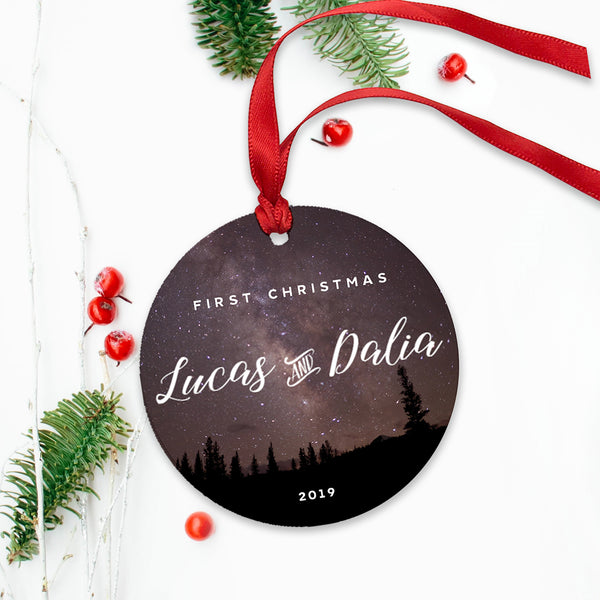 Night Sky First Christmas Ornament