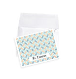 Personalized stationery note card gift set teacher paperclip pattern office gift