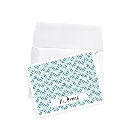 Paperclip Herringbone Note Cards
