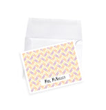 Womens personalized note cards custom stationery paperclip pattern office gift grad gift idea for teacher