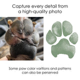 easy paw print keepsake from a photo with all the details