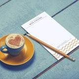 Pencil Note Pad Personalized Gift Teacher Gift Idea from Class Present Customized Notepad