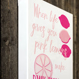 When life gives you lemons canvas wall art