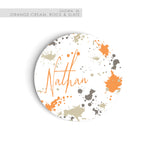 Personalized kids plate birthday tableware