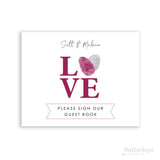Love sign guestbook print