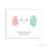 4x6 fingerprint guest book sign in table print