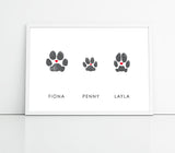 Dog paw print art fur babies memorial paws