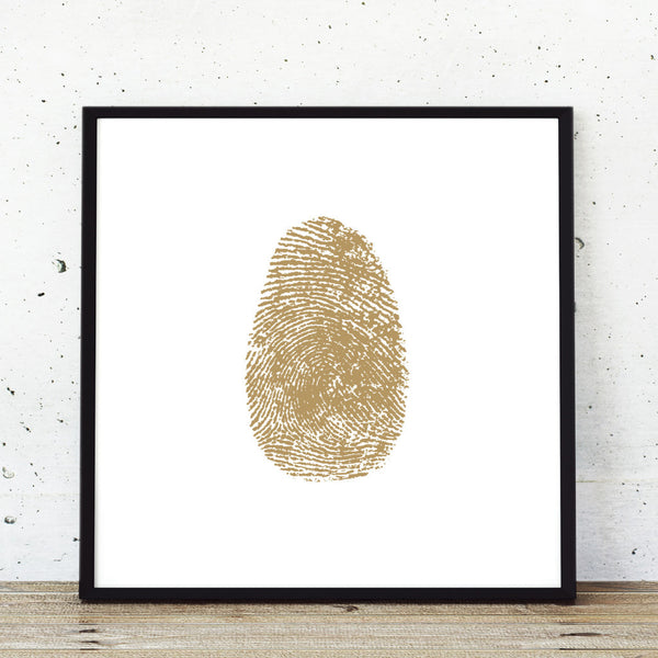 Gold fingeprint modern art single print poster
