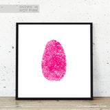 Personalized fingerprint art my fingerprint in pink