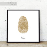 Fingerprint art for modern home decor