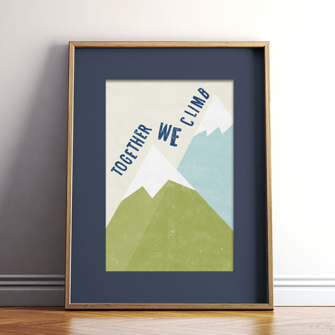 Together We Climb Print