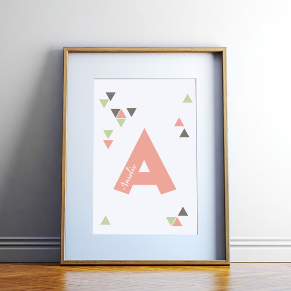 Custom Name Tribal Art Print with Alphabet