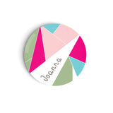 Custom Kids Plate Personalized kids gift birthday plate pink triangles dinner ware