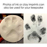 easy paw print keepsake from ink or clay imprint