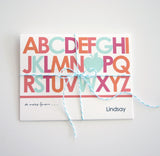 Thank you teacher gift alphabet personalized note cards