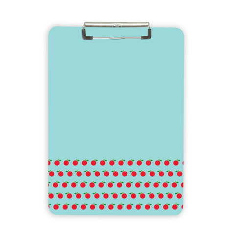 Clipboard Teacher Thank you gift with blue and red apple pattern