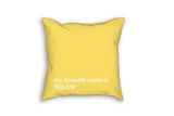 Yellow pillow custom gift for kids in favorite color