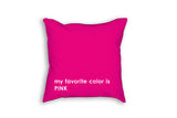 pink girls room decor custom throw pillow with name
