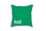 Boys room decor green throw pillow personalized kids gift