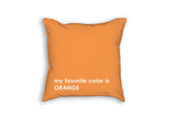 Favorite color thrown pillow in orange