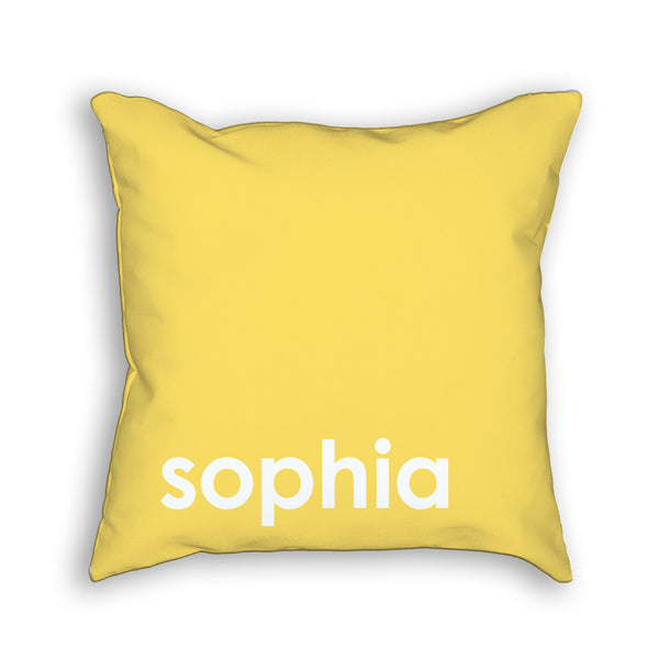 Personalized Kids Name Pillow in yellow gift