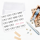 Teacher Appreciation note cards nerd glasses black rimmed eyelash glasses personalized