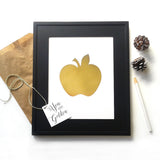 Golden Apple You are golden Gift Idea for Teacher Fall Apple Print