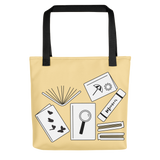 Library book lover gift tote bag